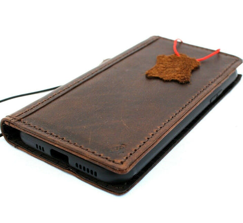Genuine Real Leather Case for Google Pixel 4 XL Book Wallet Handmade holder Retro Luxury IL Davis 1948