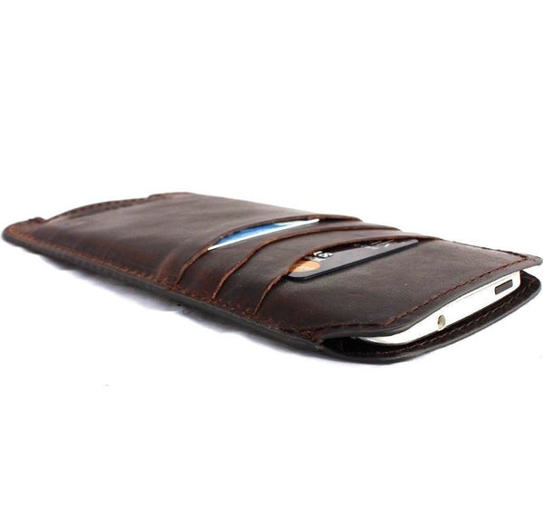 genuine italy leather case for iphone 7 cover book wallet credit card magnet luxurey flip slim R 60s daviscase