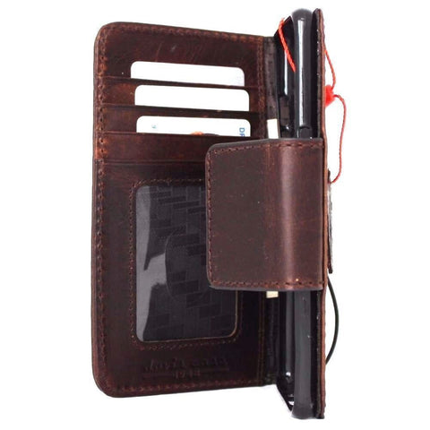 genuine italian leather Case for Samsung Galaxy S7 plus book wallet luxury rfid pay cover s Businesse daviscase lite mag