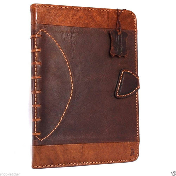 genuine natural Leather Bag for apple iPad Air 2 hard case cover magnet cards slots luxury football sport design daviscase