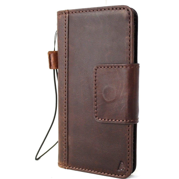 Genuine Real Leather Case for Huawei Mate 20 Pro Book Wallet flip Handmade magnetic closure wireless charging rubber