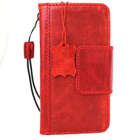 Genuine real leather case for LG G6 book walle cover handmade luxury red magnet slim daviscase