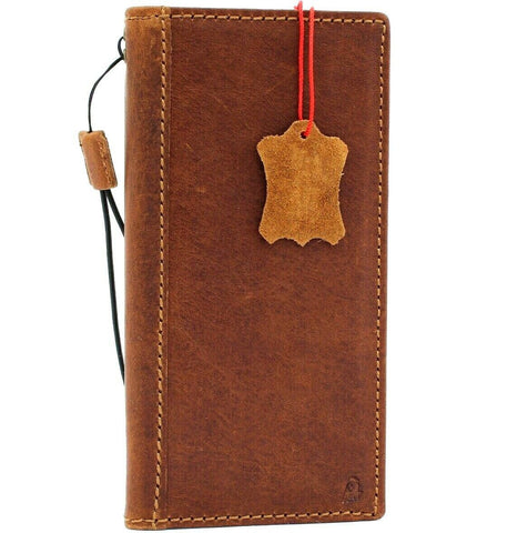 Genuine Real Tanned Leather case for Samsung Galaxy Note 10 PLUS book slim holder slots rubber stand ID window Jafo