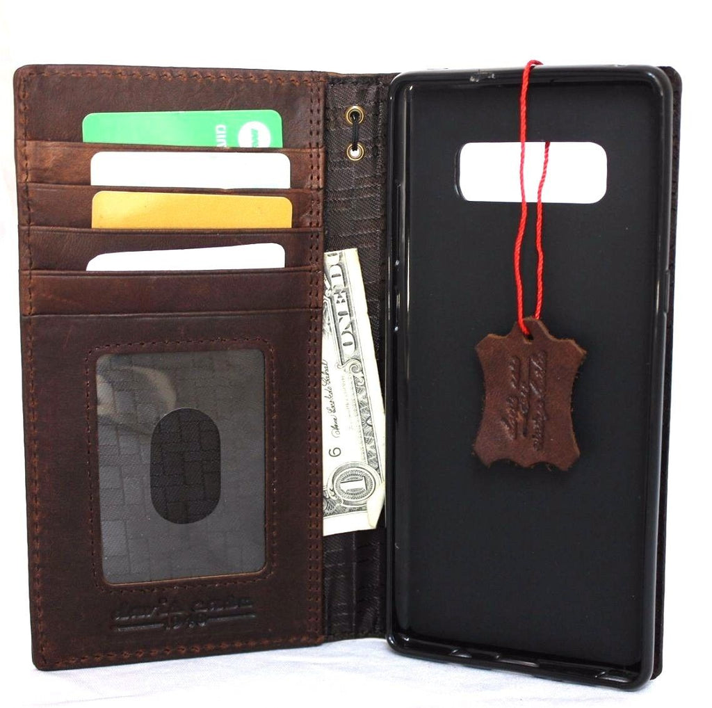 Book Cover Case ~ Genuine vintage leather case for samsung galaxy note