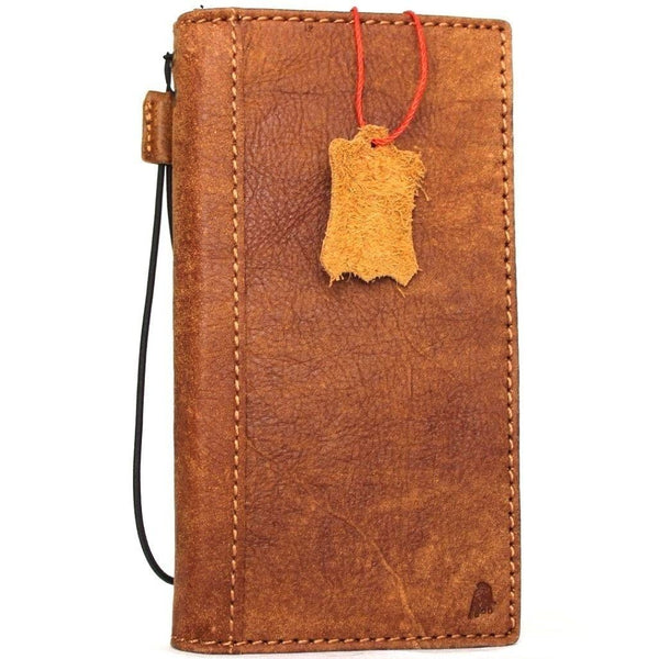 Genuine real leather Case for Oppo R11 plus book wallet cover Cards slots id cover hand made Art vintage brown slim daviscase