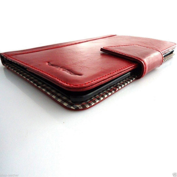genuine real Leather Bag for apple iPad mini case cover handbag red apple 2 3