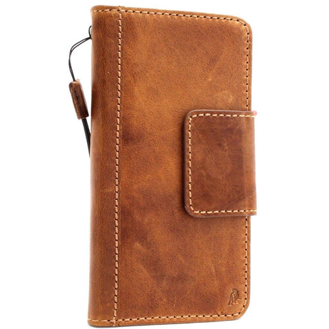 Genuine Real Leather Case for Google Pixel 2 XL Book Wallet Handmade Retro soft holder magnetic closure Tanned IL Davis