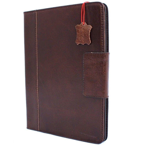 Genuine Vintage Leather Handmade Case for Apple iPad Pro 10.5 (2017) hard Cover Stand Luxury Credit Cards slots brown slim DavisCase