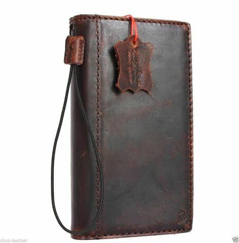 Genuine full Leather Case for Google Pixel 3A Book Wallet Handmade holder Retro Luxury IL Davis rubber