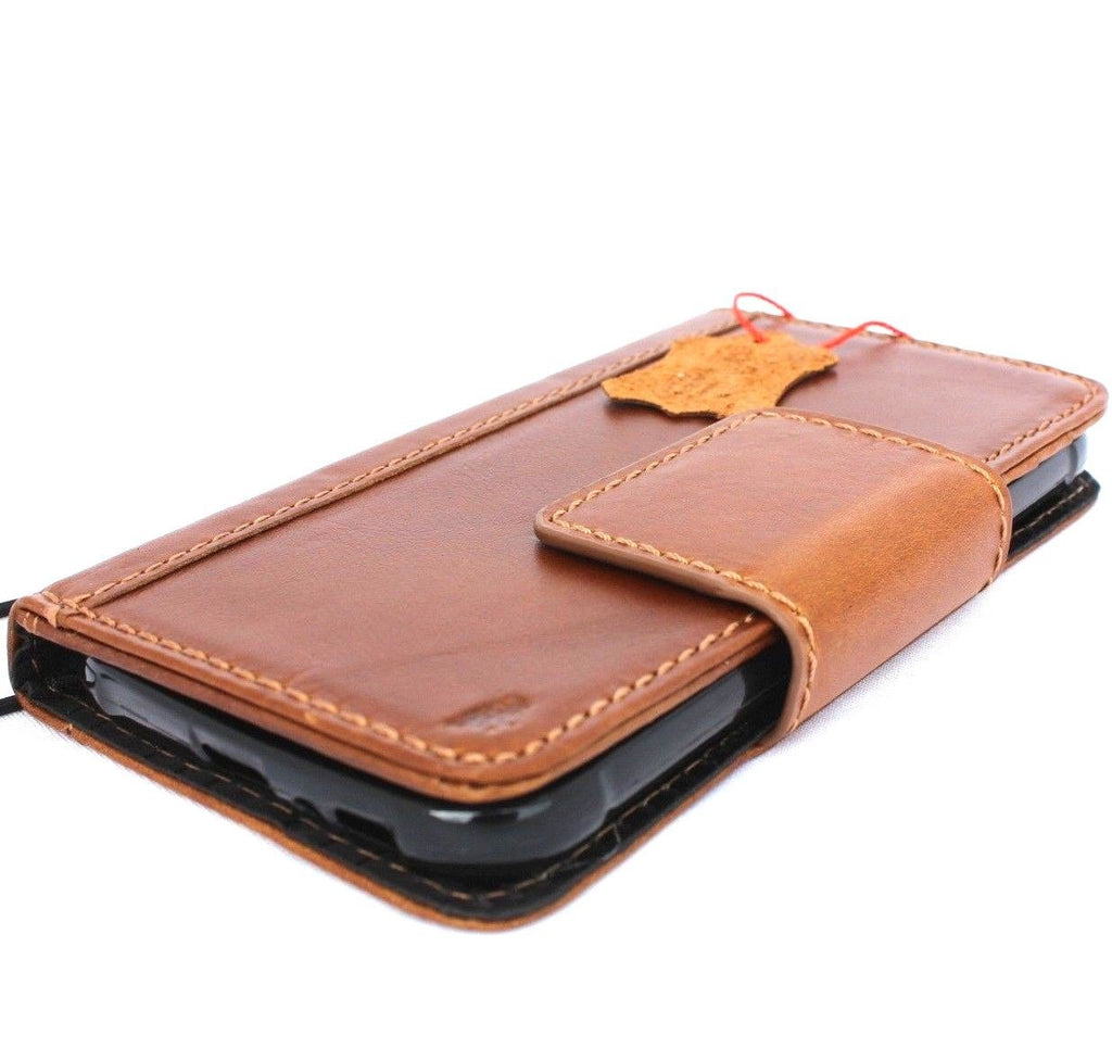 cheap for discount 9d3ba f034c genuine handmade leather Case for Samsung Galaxy S7 Active book wallet  magnet closure cover cards slots Businesse jafo 48 mag