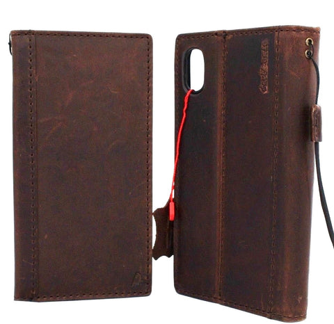 Genuine Real Leather case for Apple iPhone XR cover wallet Credit cards ID window soft Holder Book Retro Slim Jafo