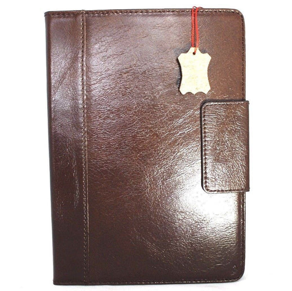 Genuine full Leather case Bag for apple iPad 9.7 2017 hard cover handbag stand magnetic brown cards slots slim daviscase luxury A1822 A1823