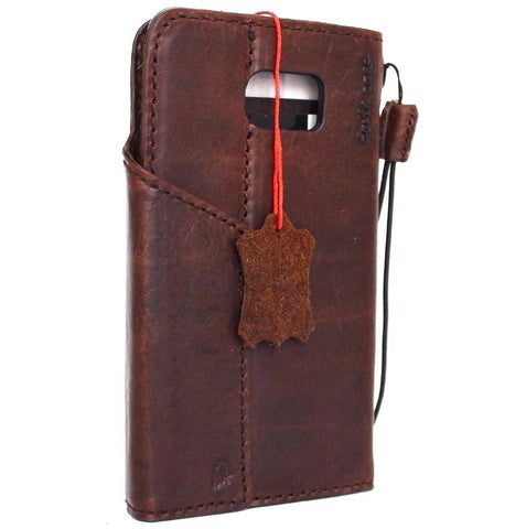 Genuine Real Leather Case for Samsung Galaxy S6 Edge Plus Book Wallet magnet cover Handmade Retro Luxury brown slim daviscase Nz G928A G928F G928A