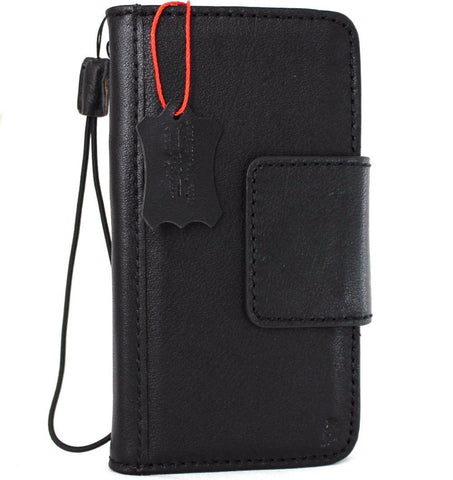 Genuine realretro leather case for LG G6 book walle magnet cover handmade luxury black slim daviscase