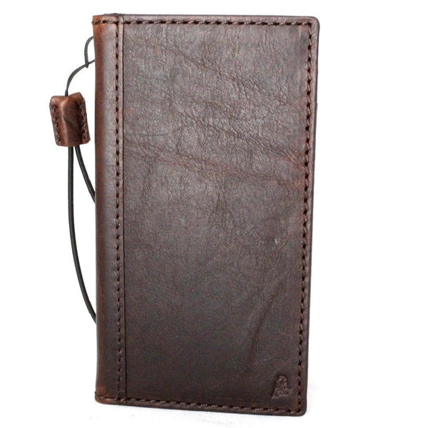 Genuine real leatherfor apple  iPhone x case cover wallet credit holder book tan luxury holder Wireless charging slim davis