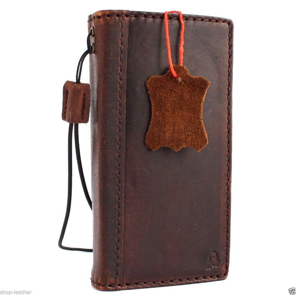 genuine vintage leather case for iphone 5 5s book wallet cover new handmade cards skin s