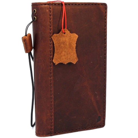 Genuine vintage leather Case for LG V30 slim cover book luxury wallet hand made daviscase V 30 oiled