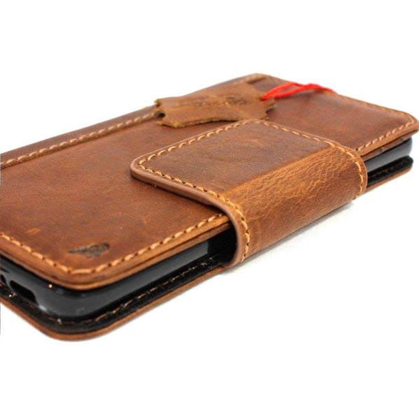 Genuine high quality natural leather Case for Samsung Galaxy S9  daviscase wallet handmade magnetic cover