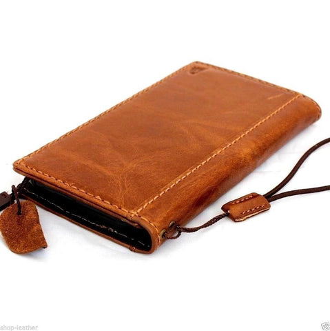genuine italian leather case for iphone 6 plus cover book wallet band credit card id business slim flip davis case AU daviscase