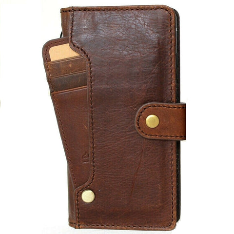 Genuine Leather Case for Google Pixel 5 Book Wallet Full holder Retro Stand Luxury IL Davis 1948 5G wireless charging