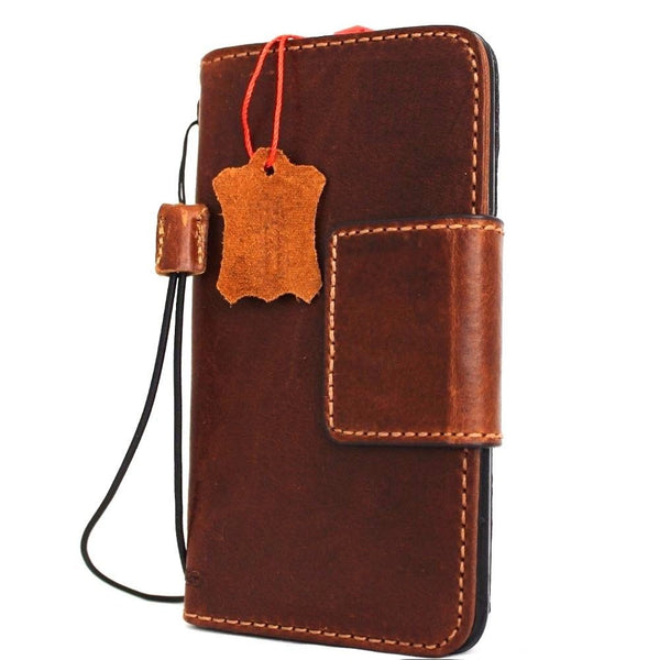 Genuine real Italian leather Case for Samsung Galaxy S7 Edge book wallet luxury cover s  7 Daviscase