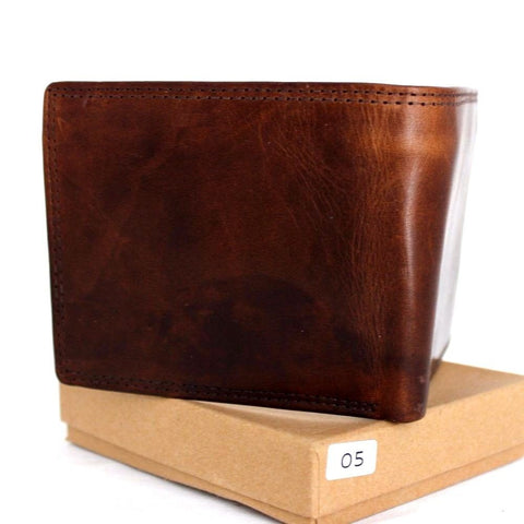 Men's Genuine retro Leather Wallet Vintage Italian Natural Skin Coin Money Pocket Purse Retro Style Luxury brown slim daviscase