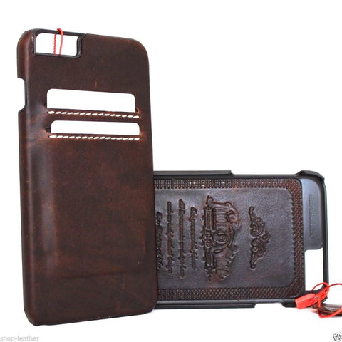 genuine real leather case for iphone 6s plus cover 6+ book wallet classic business slim  DE daviscase