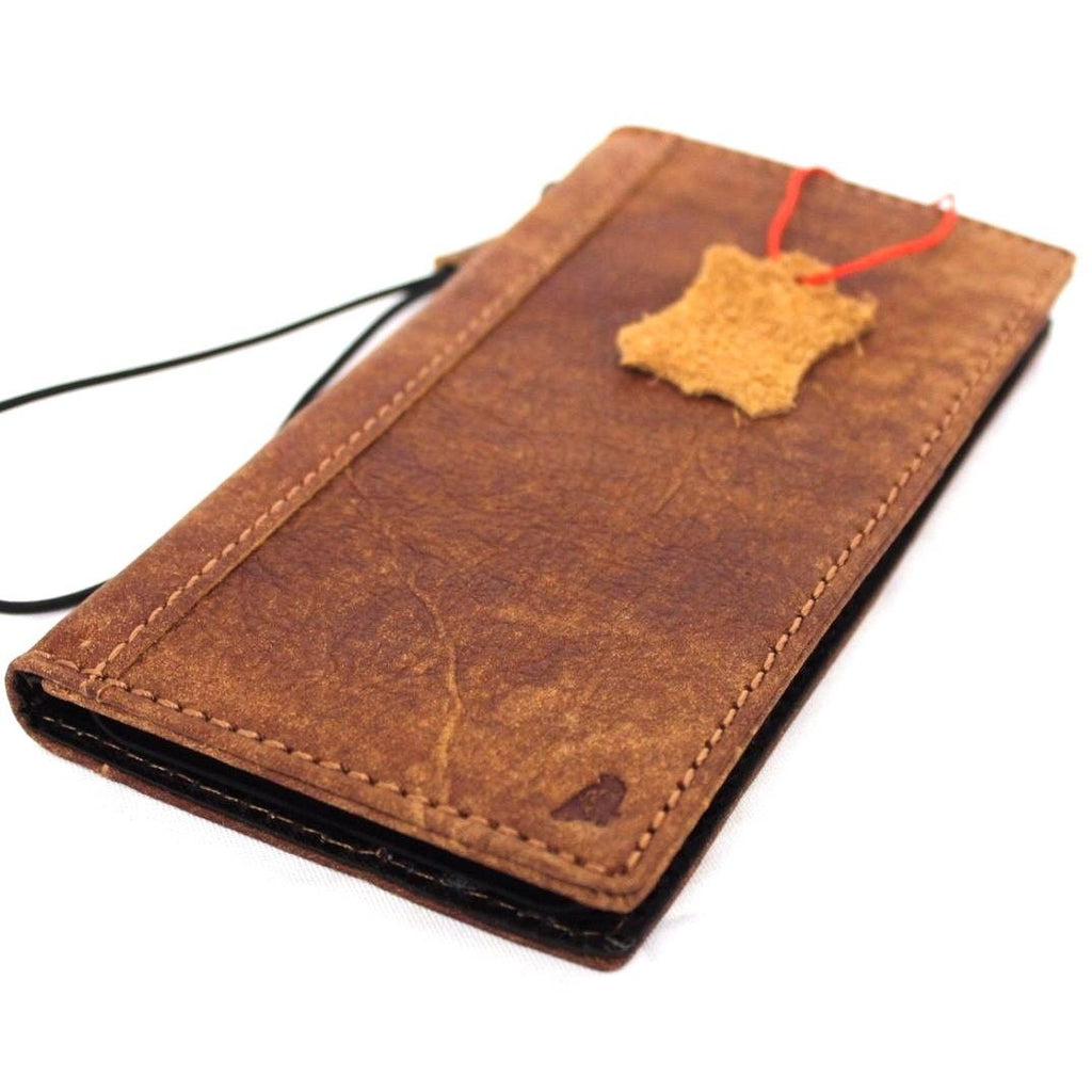 Genuine Leather Case For Iphone 8 Plus Book Wallet Cover Credit