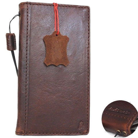 Genuine full leather case for iPhone 8 cover book wallet cards business slim Wireless charging Davis classic Art
