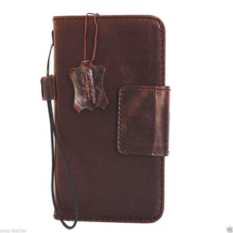 genuine FULL leather Case  for Samsung Galaxy note 5 book wallet magnet cover luxury vintage brown daviscase pro