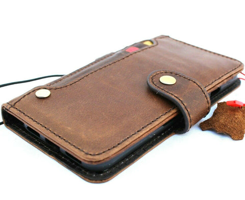 Genuine oil Leather Case for Google Pixel 4 Book Walletl holder Retro Stand Luxury IL Davis 1948 closure Wireless charging