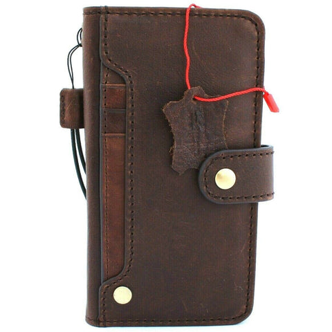 Genuine Real Vintage Leather case for Apple  iPhone 11 cover wallet credit holder book wireless charging prime holder slim Jafo 48