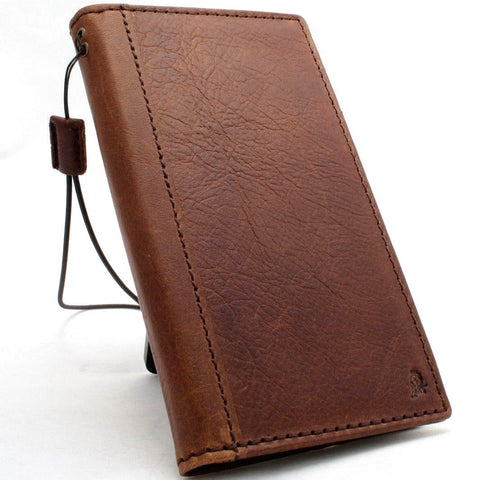 Genuine real leather Case for LG G7 slim cover book luxury wallet handmade daviscase holder