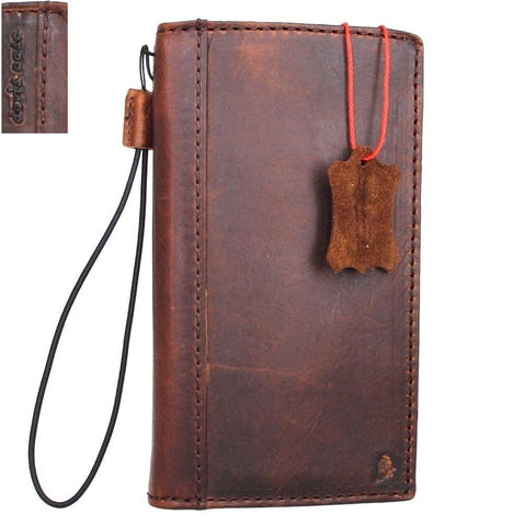 Genuine Real Leather Case for Huawei p10 plus Book Wallet cover slim Hand made Retro brown Luxury cards slots daviscase