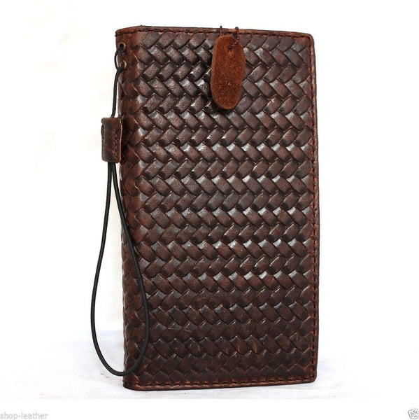 genuine italy real leather case for iphone 6 plus cover book wallet band credit card id magnet business slim jp daviscase