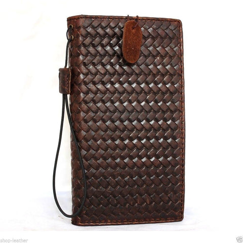 genuine Italian real leather case for iPhone 6 Plus cover book wallet band credit card id magnet business slim jp daviscase