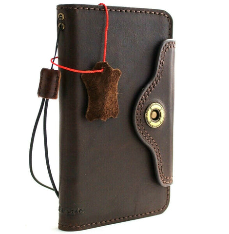 Genuine vintage leather case for Samsung Galaxy Note 10 Plus book wallet soft holder slots rubber stand Jafo wireless charger