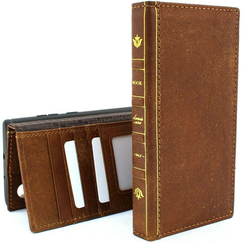 Genuine full retro Leather Case for Samsung Galaxy Note 10 Plus bible Book Wallet soft slots luxury art slim