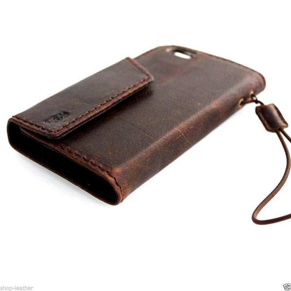 genuine italy leather case for iphone 5 5c 5s SE cover book wallet credit card magnet luxurey
