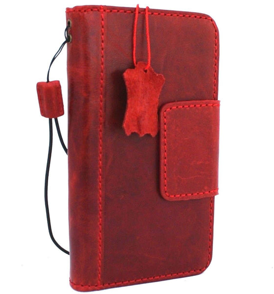 Genuine Real leather for Apple iPhone XR case cover wallet credit holder magnetic book luxury holder slim soft Red Jafo IL