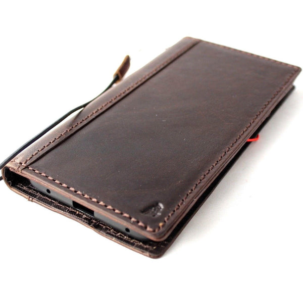 Genuine Real Leather Case for for Huawei Mate 20 Pro Book Wallet Handmade Retro Luxury wireless rubber holder