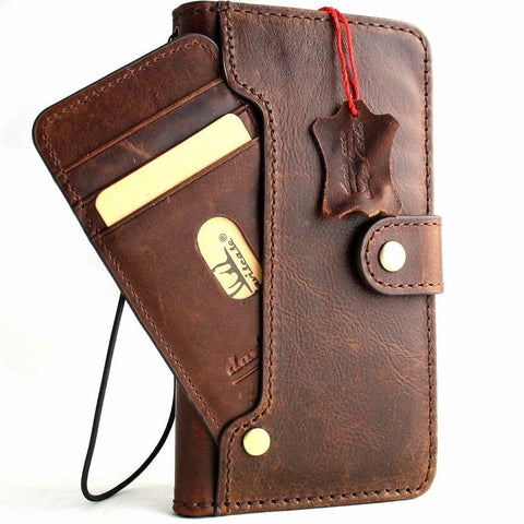Genuine Real Leather Case for Google Pixel 3A Book Wallet Handmade soft holder Retro Luxury Davis 1948 prime