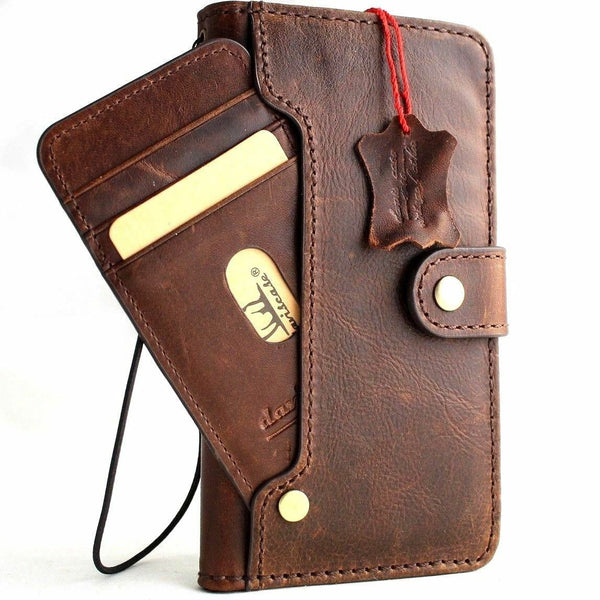 Genuine Real Leather Case for Google Pixel 3A XL Book Wallet Handmade soft holder Retro Luxury Davis 1948 prime