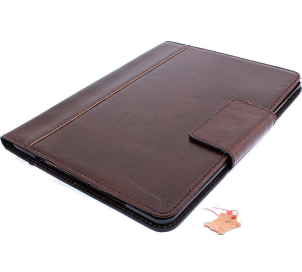 Genuine Vintage Leather Case for Apple iPad Pro 10.5 (2017) Handmade hard Cover flip rubber Credit Cards slots Brown slim Design DavisCase