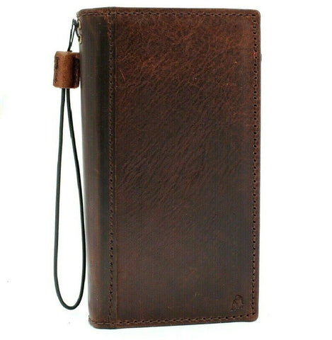 Genuine leather Case for Samsung Galaxy Note 20 5G book wallet cover Cards wireless charging holder luxury Note 20 rubber ID