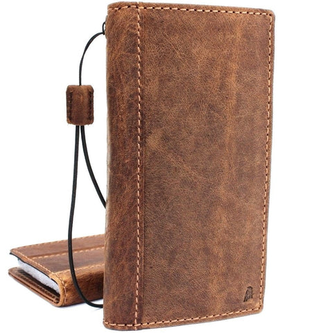 Genuine vintage leather Case for Samsung Galaxy S9 Plus book wallet elastic strap cover cards slots Jafo daviscase wireless charging