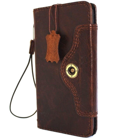 genuine Leather case hard Cover for Motorola Nexus 6 Pouch Wallet Phone skin TIC clip daviscase