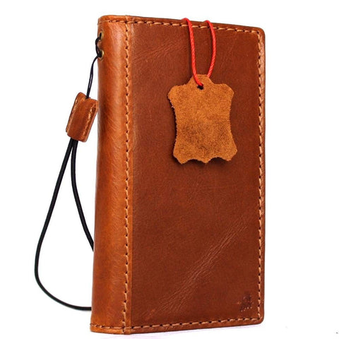 Genuine REAL leather iPhone 7 classic case cover wallet credit holder book luxury Rfid Pay eu