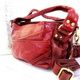 Genuine natural 100% soft top leather woman bag design red tote Handbag lady