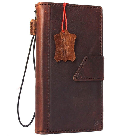 Genuine real leather iPhone 7 plus magnetic case cover wallet credit holder book luxury Closure Protective